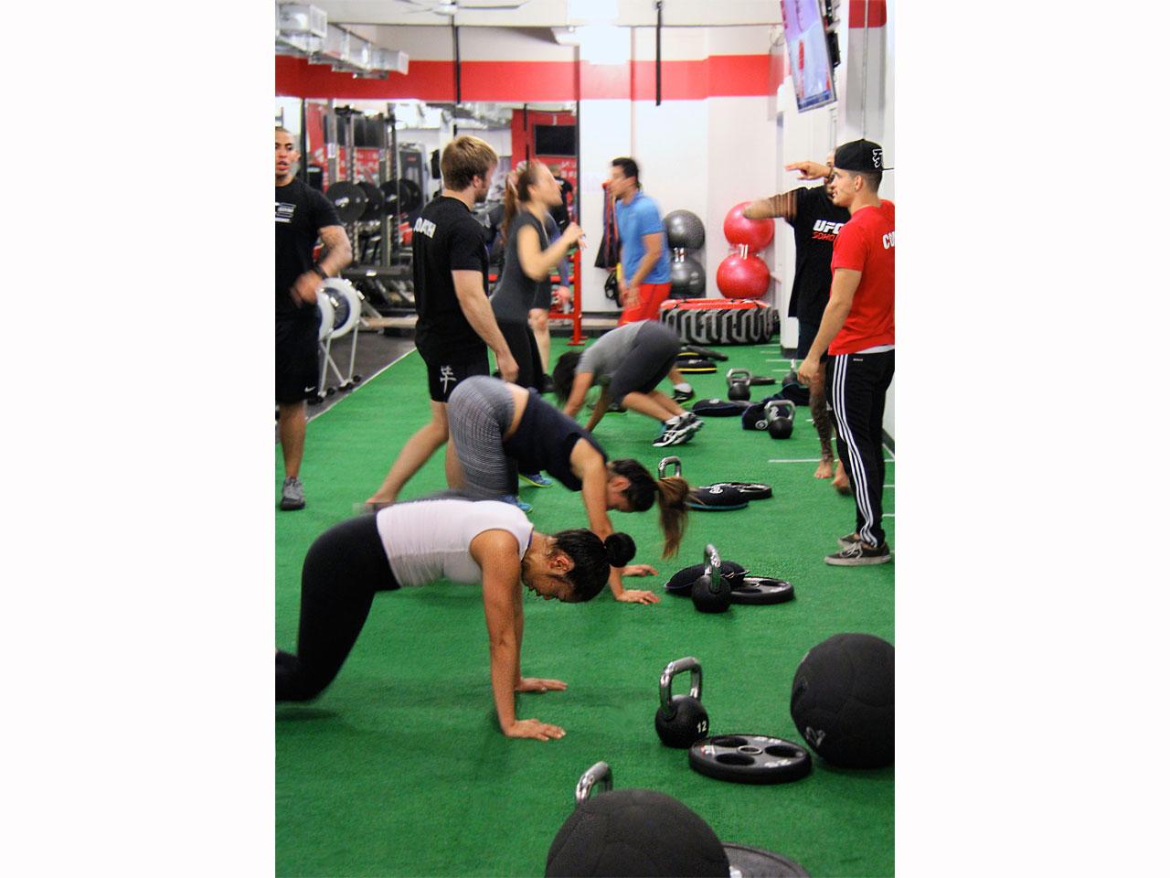 UFC gym SoHo Daily Ultimate Training class